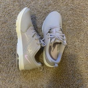 Gray Nike wemons running shoes